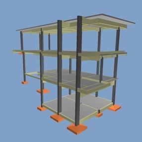 Projeto estrutural casa com 3 pavimentos