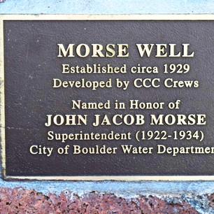 Morse Well - Commemoration, 1997 - 2002
