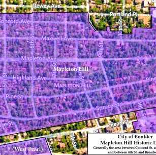Mapleton Hill Historic District Designation by the City of Boulder, 1982