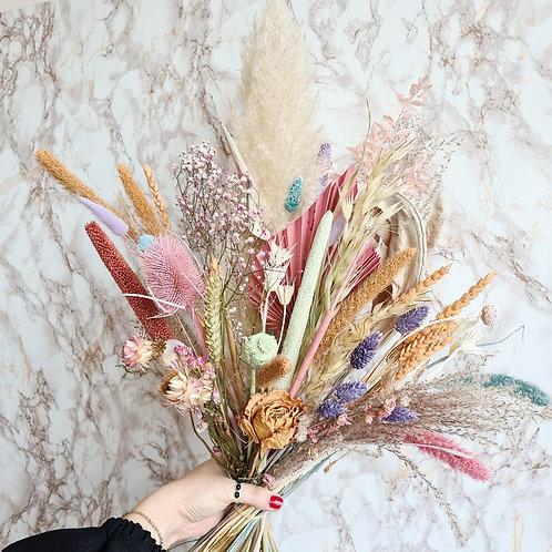 Boeket droogbloemen pastel