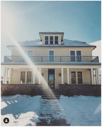 Summerdog Farm on Arapahoe Ave, from the 2020 tour, Farmhouses in Winter. Photo credit: Savannah Snody