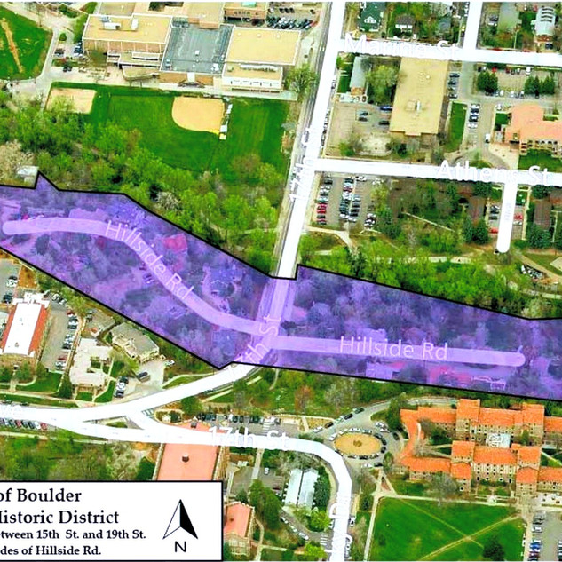 Hillside Historic Distriction - Additional to Local Designated Historic Districts of Boulder, 2001