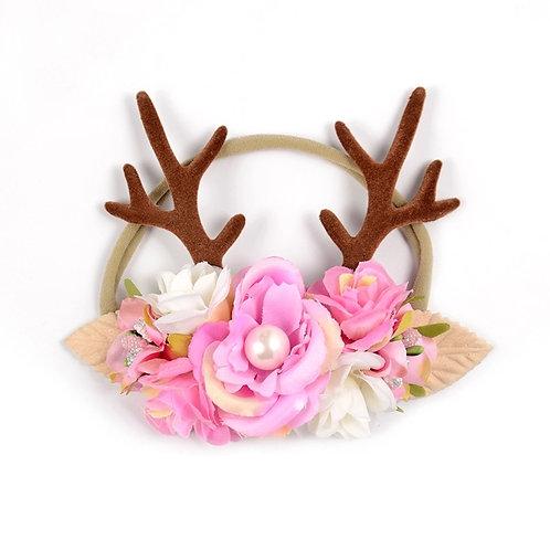 Meadow Floral Deer Antlers Crown