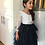 Thumbnail: NAVY Alpenglow Ruffle Dress - Ankle Length - Long Sleeve