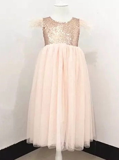 Elke Sequinned A - Line Gown