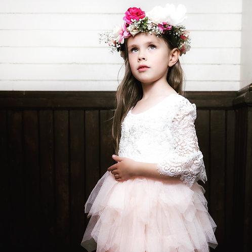 Alpine Rose Ruffle Dress