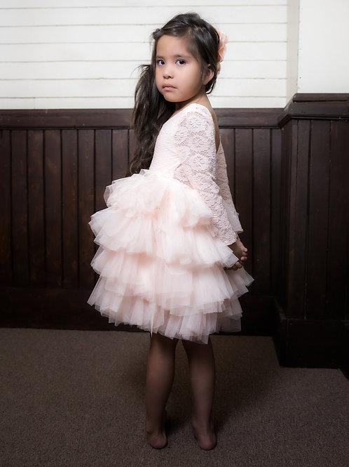 Makinley Ruffle Long Sleeve Dress -