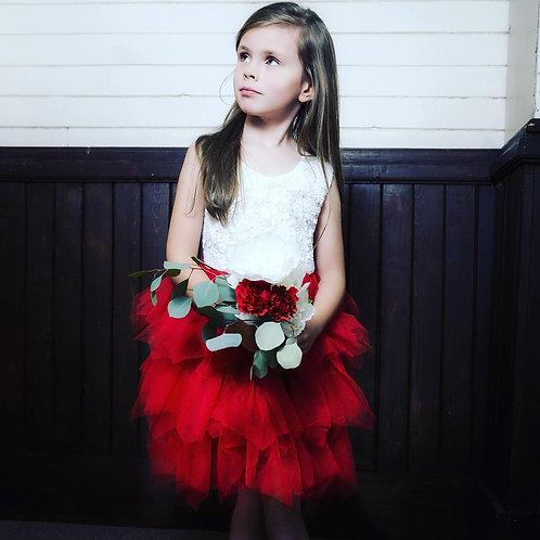 Holly Berry Ruffle Dress
