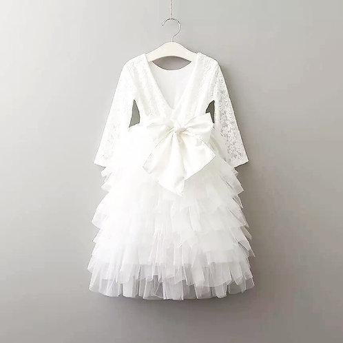 Winter Blossom Dress in WHITE