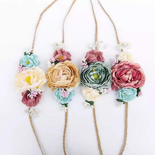 Meadow Sweet Floral Tie Up Headband