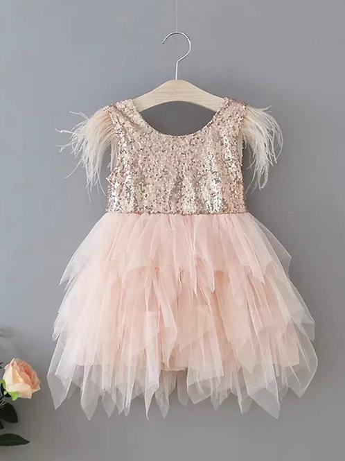 Nova Sequinned Ruffle Dress