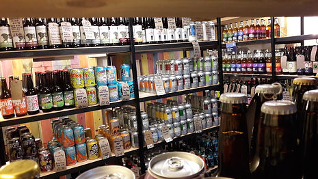 Craft beer bottle shop