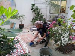Mosaic laying