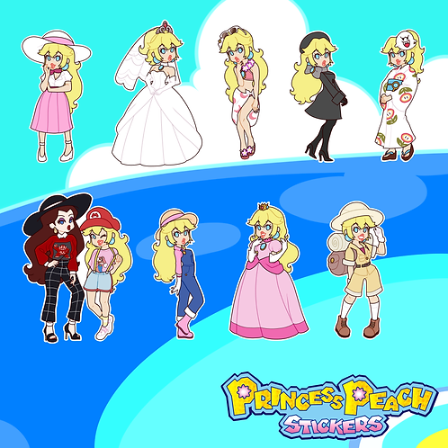 Princess Peach Stickers