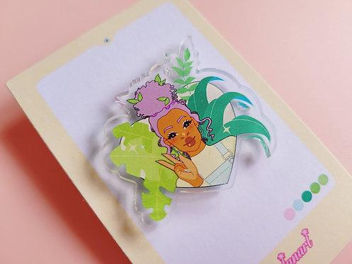 Lavender Plant Gal Pin