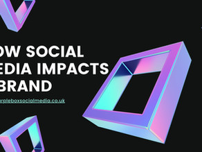 How Social Media impacts a Brand.