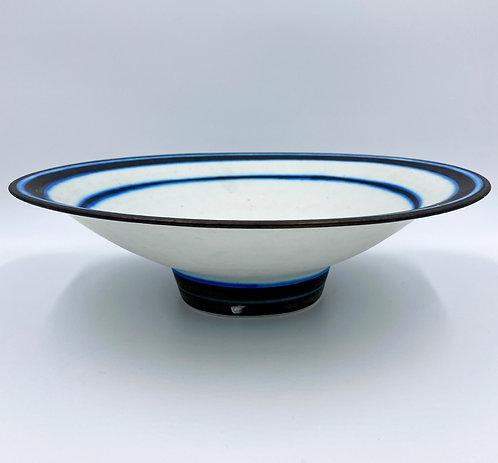 White Striped Bowl