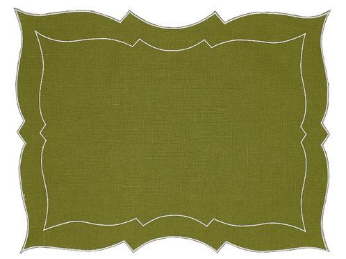 Linen Placemat, Moss Green (Set of 6)