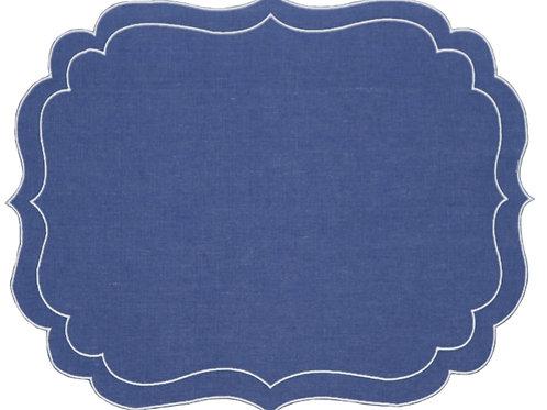 Linen Placemat, Atlantic Blue (set of 6)