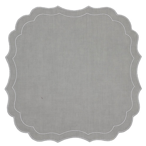 Linen Placemat, Oyster Scallop (set of 6)