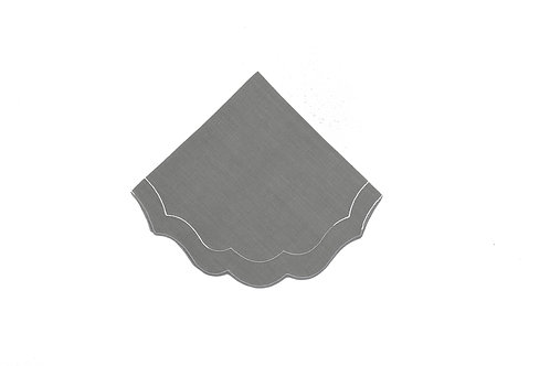 Linen Napkin, Scalloped Oyster (set of 6)