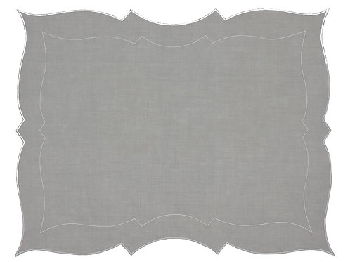 Linen Placemat, Oyster (set of 6)