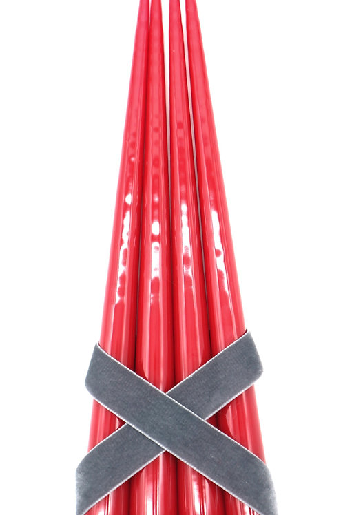 Taper Candles, Light Red (Set of 4)