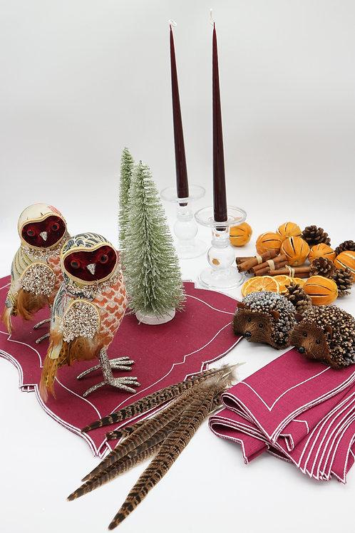 Countryside Christmas Table Setting