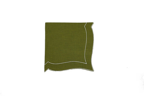 Linen Napkin, Moss Green (set of 6)
