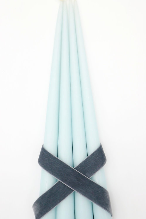 Taper Candles, Ice Blue (Set of 4)