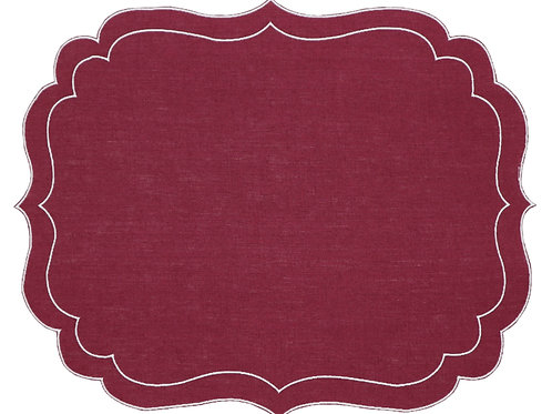 Linen Placemat, Burgundy (set of 6)