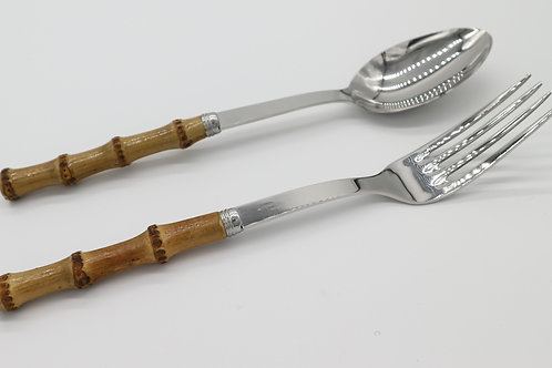 Bamboo serving set