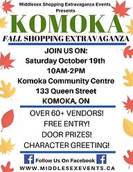 Komoka Fall Shopping Extravaganza Event