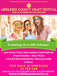 Middlesex County Craft Festival Poster .