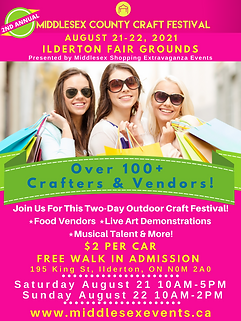Middlesex County Craft Festival New Date