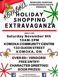 Holiday Shopping Extravaganza Komoka .pn