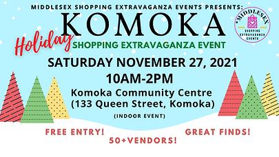 Komoka Holiday Shopping Extravaganza November 27.png