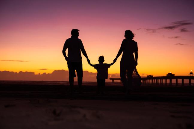 Nascer do sol em família