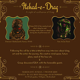 Itehad-e-Drag: A Drag Experience you don't want to miss.