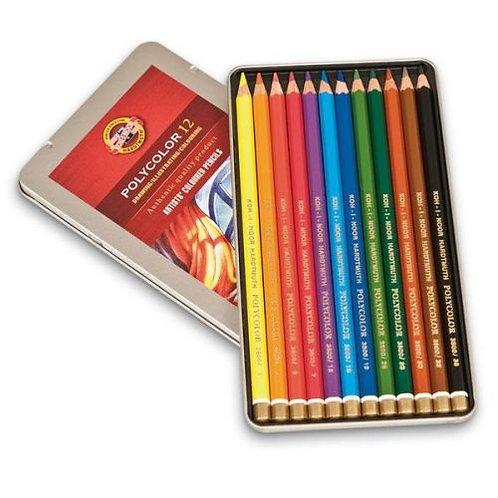 Crayons de couleur Polycolor - KOH I NOOR - 12 couleur