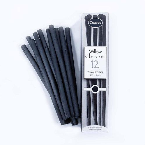 Fusains - boîte de 12 - 7/9mm - Coates