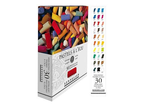 Pastels à l'écu - SENNELIER - 30 demi pastels à l'écu