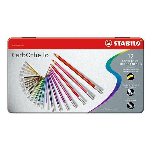 Crayons de couleur - CarbOthello - Stabilo - 12 crayons