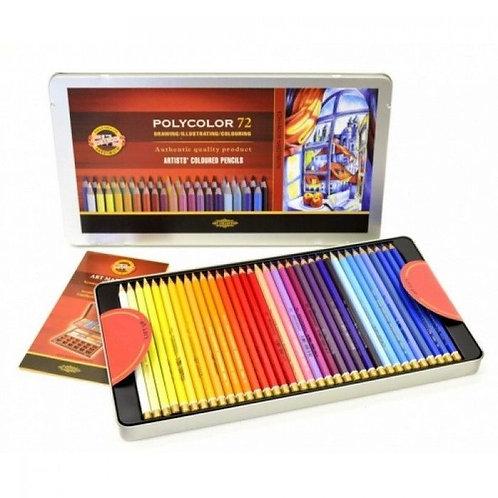 Crayons de couleur Polycolor - KOH I NOOR - 72 couleur