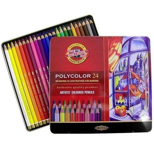 Crayons de couleur Polycolor - KOH I NOOR - 24 couleur