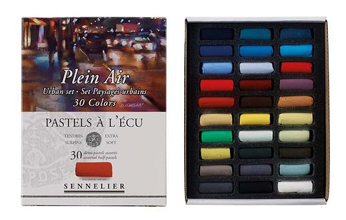Pastels à l'écu - SENNELIER - 30 demi pastels à l'écu - Set Paysages Urbains
