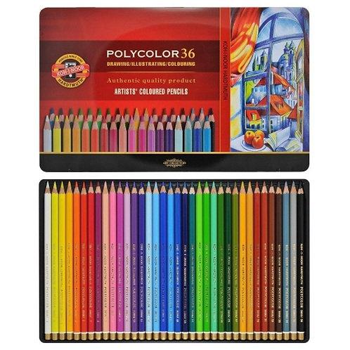 Crayons de couleur Polycolor - KOH I NOOR - 36 couleur