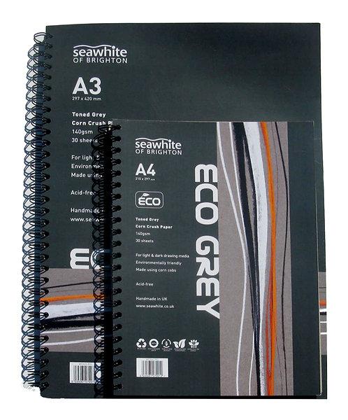 Bloc spirales - Eco Grey - Seawhite - 140gms - A4 et A3