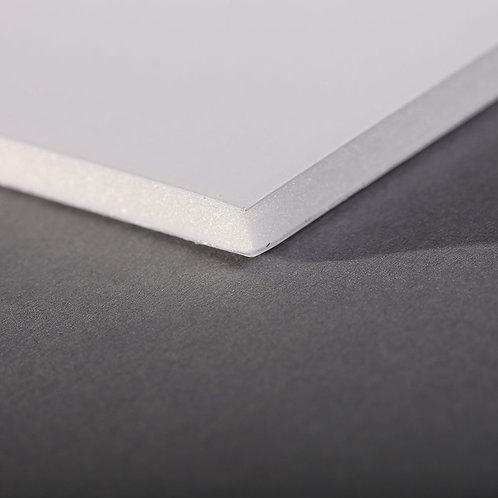 Carton plume/mousse - 5mm - blanc - de A4 à A1 - à l'unité