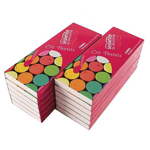 16 pastels à l'huile - SEAWHITE - 11mm
